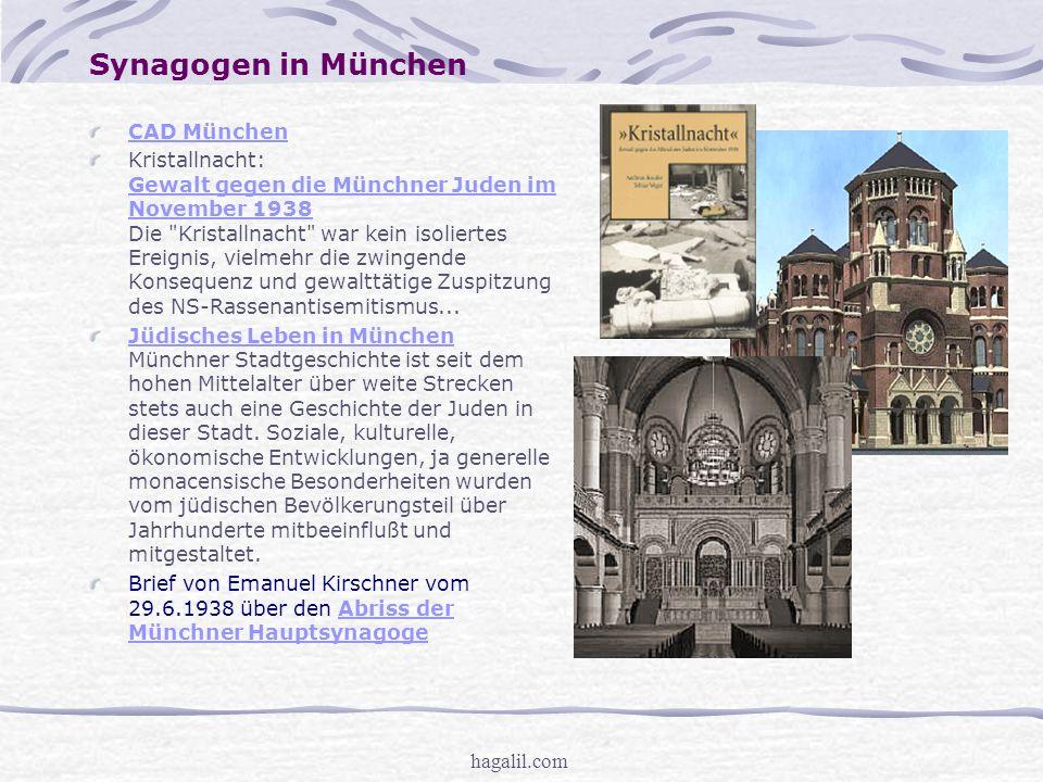 Synagogen in München CAD München