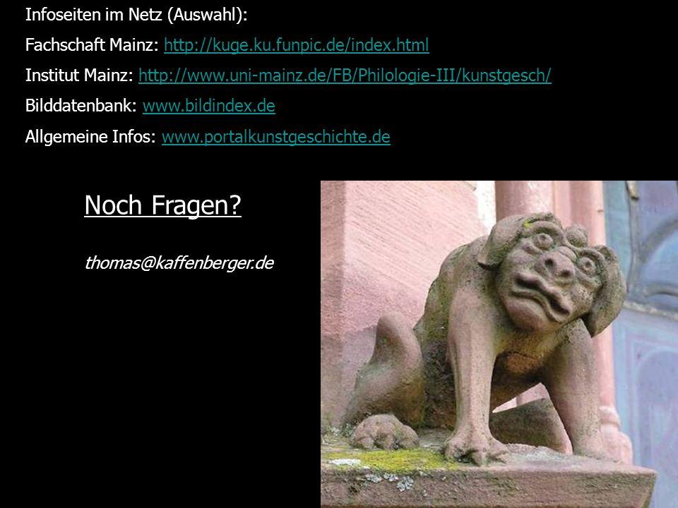 Noch Fragen Infoseiten im Netz (Auswahl):