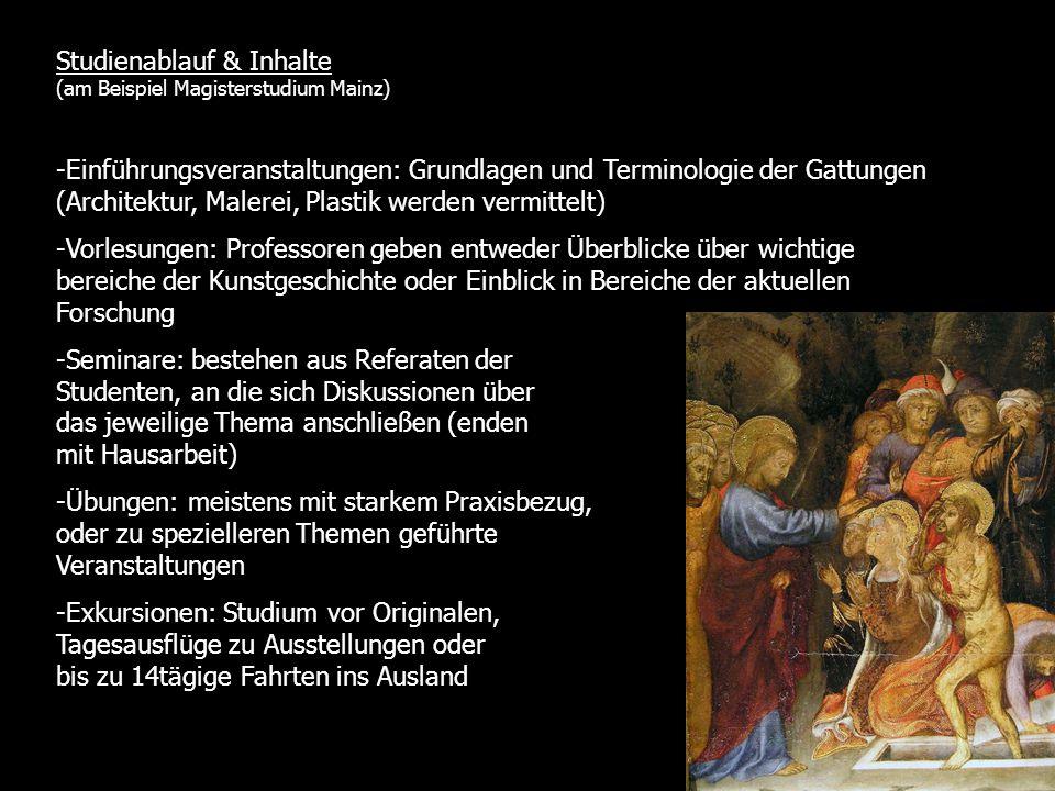 Studienablauf & Inhalte (am Beispiel Magisterstudium Mainz)