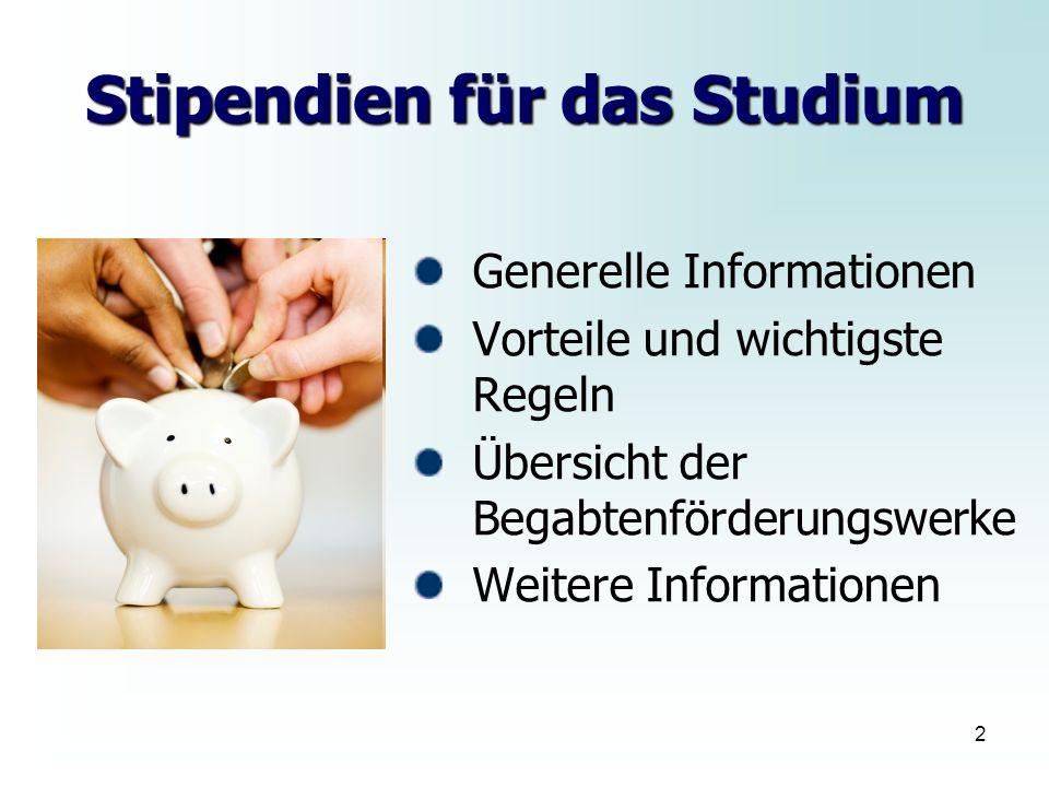 Stipendien für das Studium