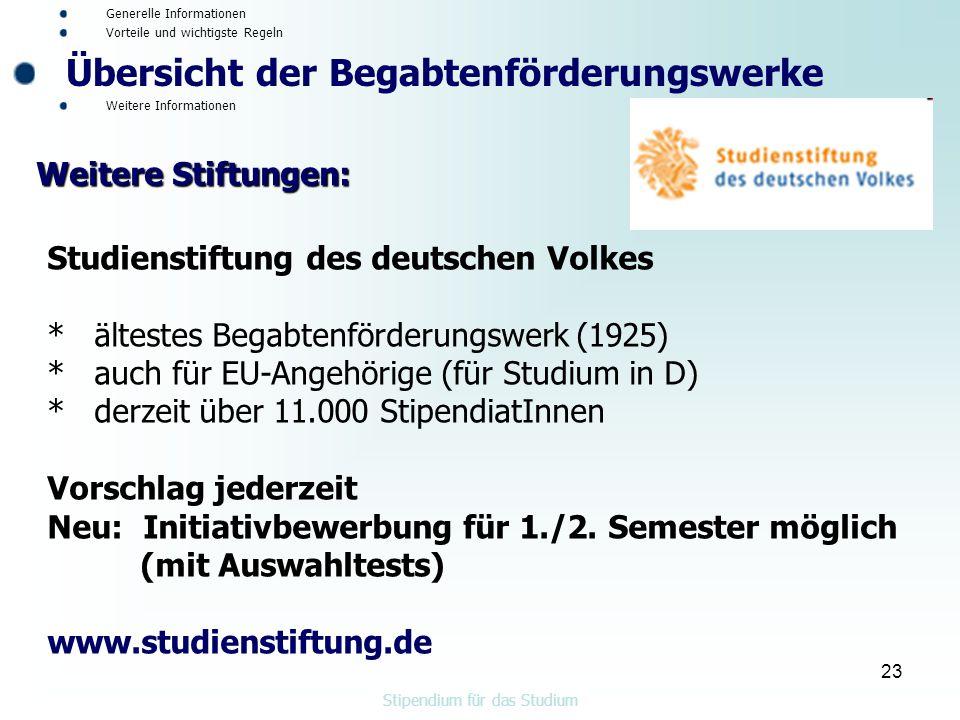 Stipendium für das Studium