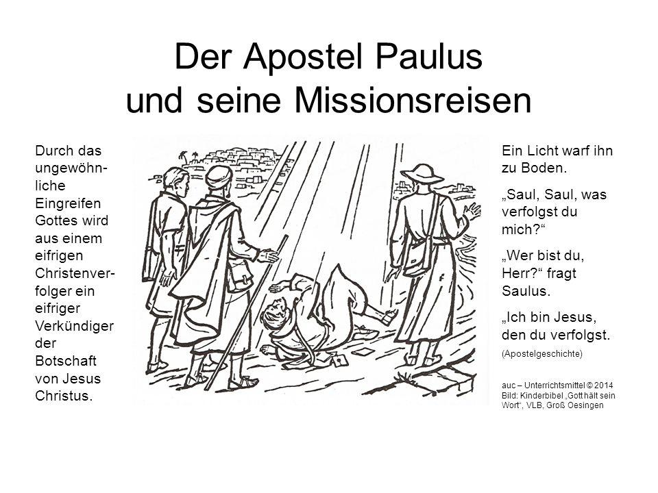 Der Apostel Paulus und seine Missionsreisen