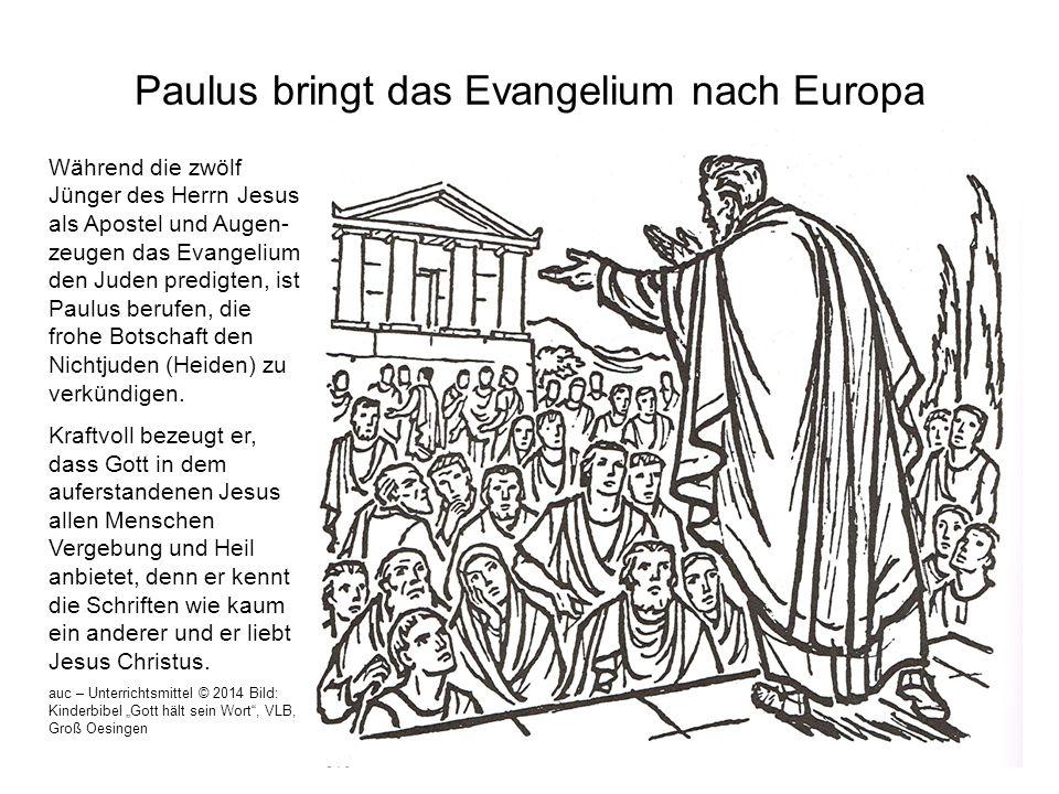 Paulus bringt das Evangelium nach Europa