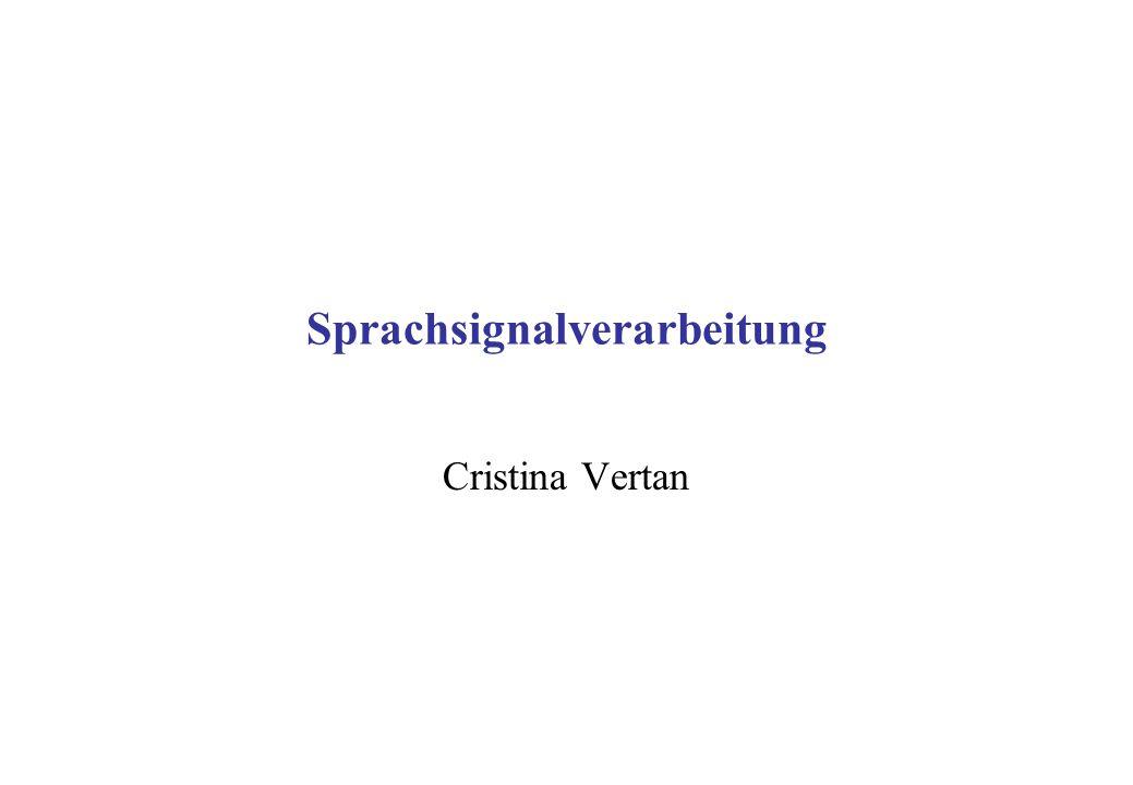 Sprachsignalverarbeitung