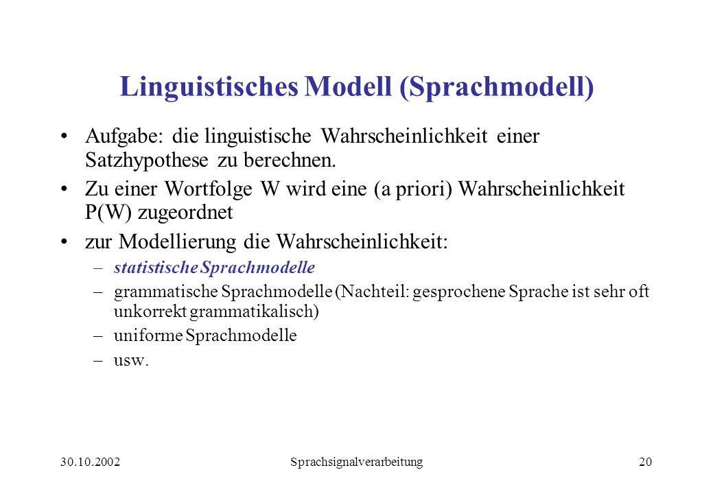 Linguistisches Modell (Sprachmodell)