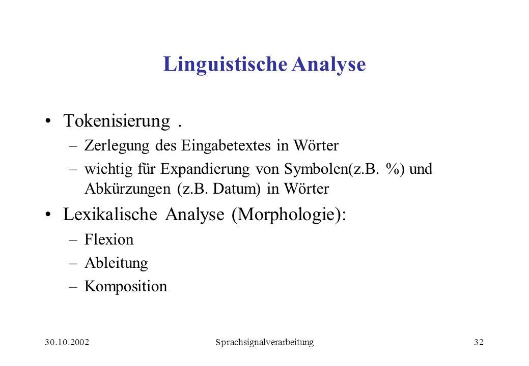Linguistische Analyse