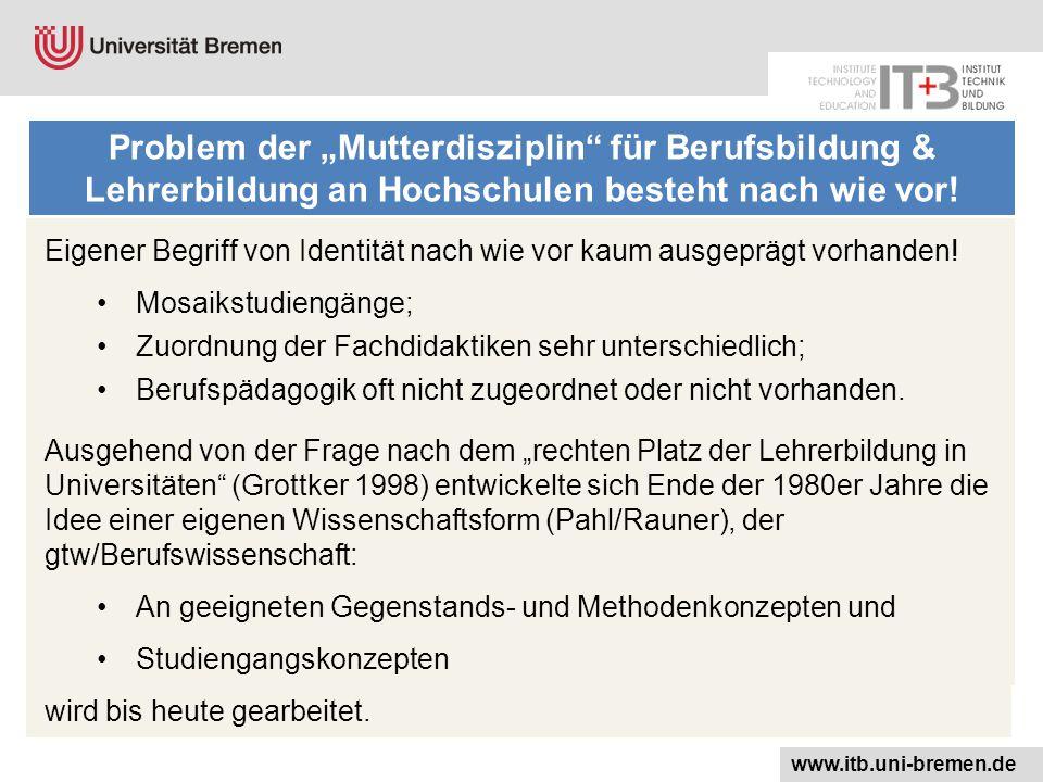 """Problem der """"Mutterdisziplin für Berufsbildung & Lehrerbildung an Hochschulen besteht nach wie vor!"""