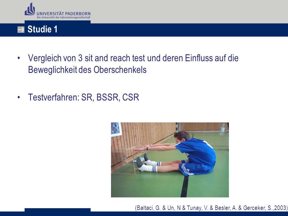 Testverfahren: SR, BSSR, CSR