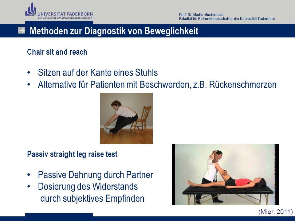 Methoden zur Diagnostik von Beweglichkeit