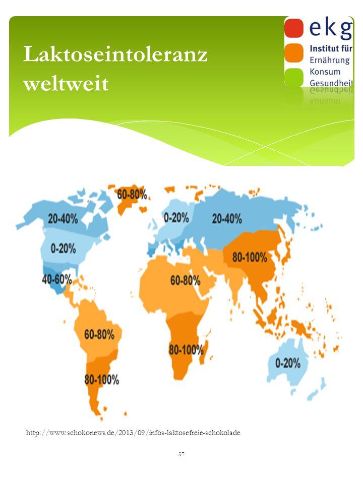 Laktoseintoleranz weltweit