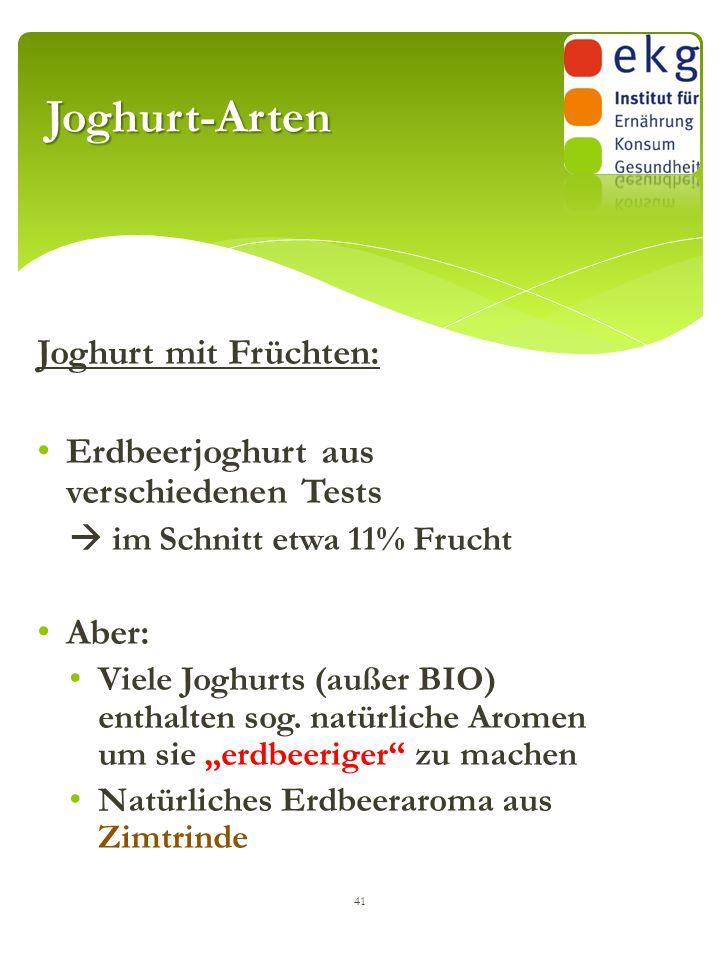 Joghurt-Arten Joghurt mit Früchten: