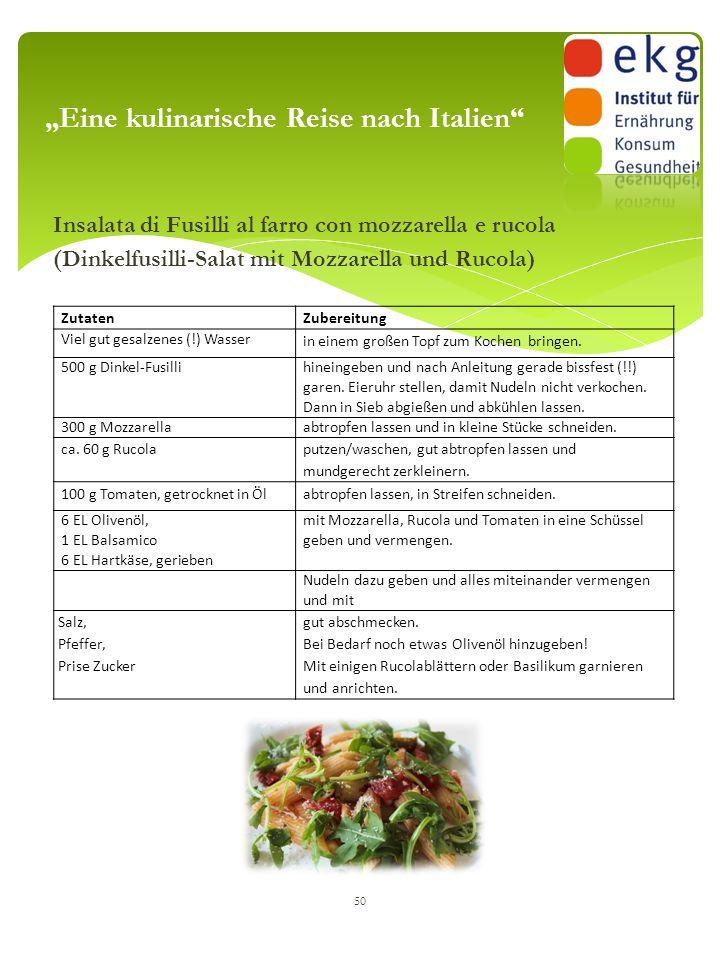 """""""Eine kulinarische Reise nach Italien"""