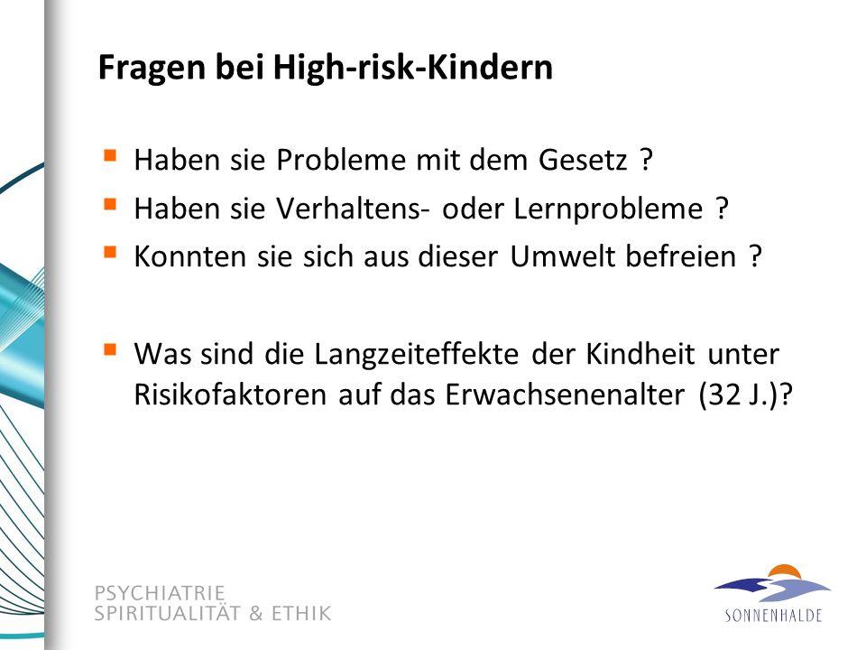 Fragen bei High-risk-Kindern