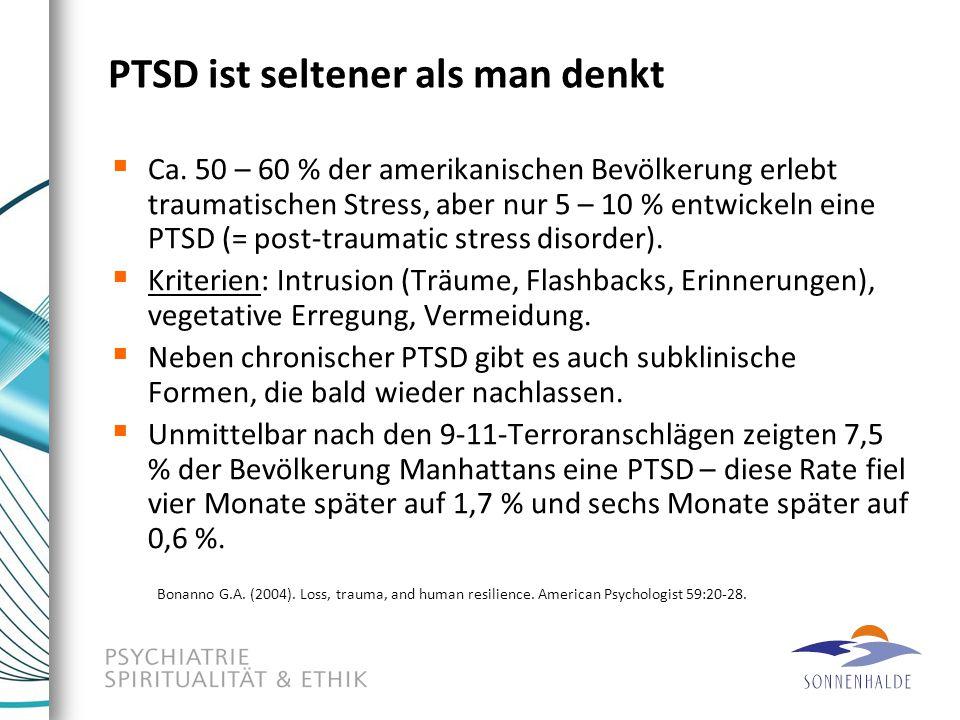 PTSD ist seltener als man denkt