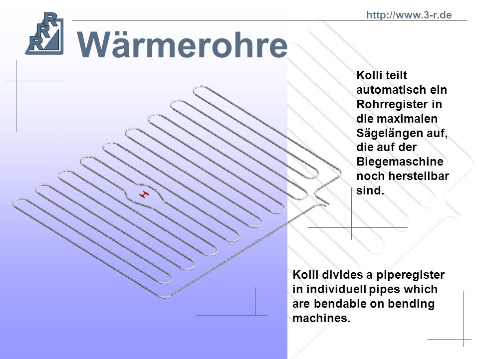 http://www.3-r.de Wärmerohre.