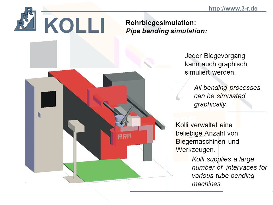 KOLLI Rohrbiegesimulation: Pipe bending simulation: