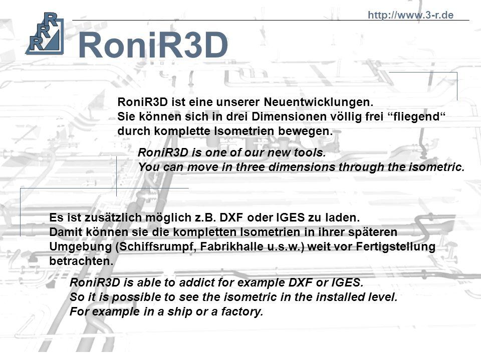 RoniR3D RoniR3D ist eine unserer Neuentwicklungen.