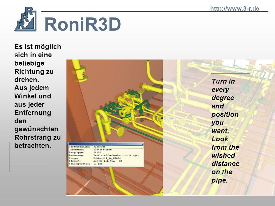 RoniR3D Es ist möglich sich in eine beliebige Richtung zu drehen.