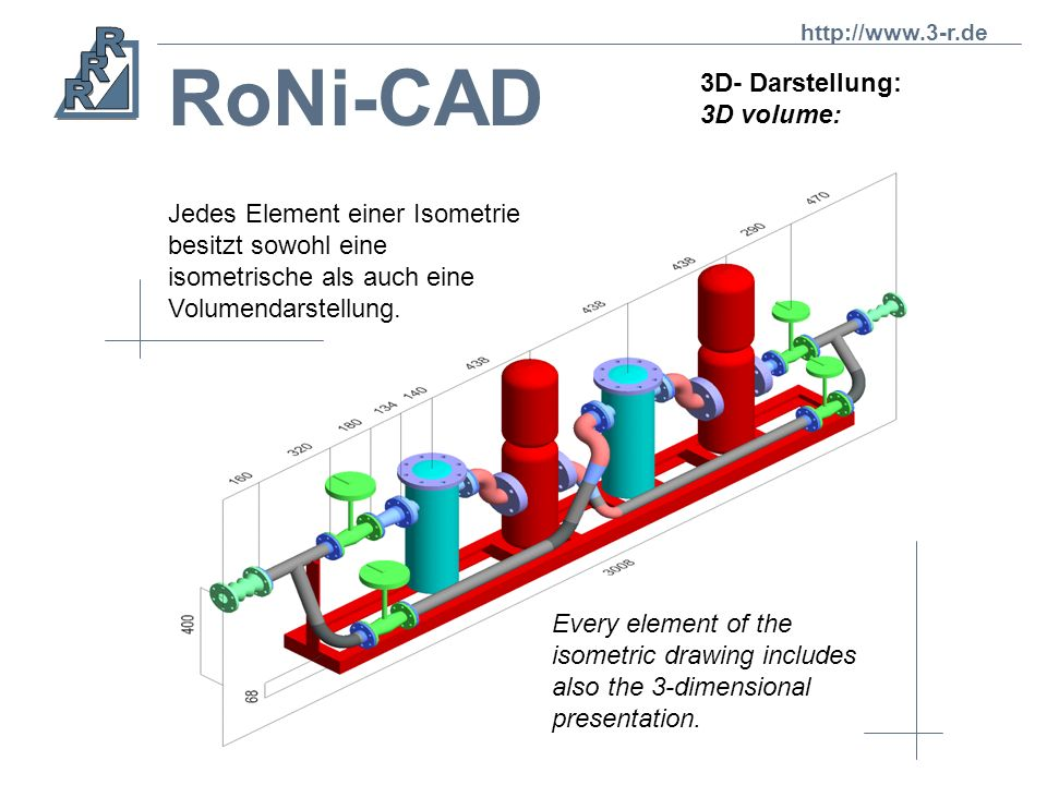 RoNi-CAD 3D- Darstellung: 3D volume: