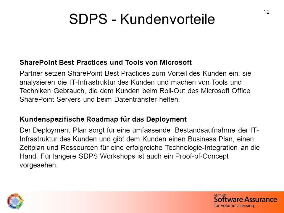 SDPS - Kundenvorteile SharePoint Best Practices und Tools von Microsoft.