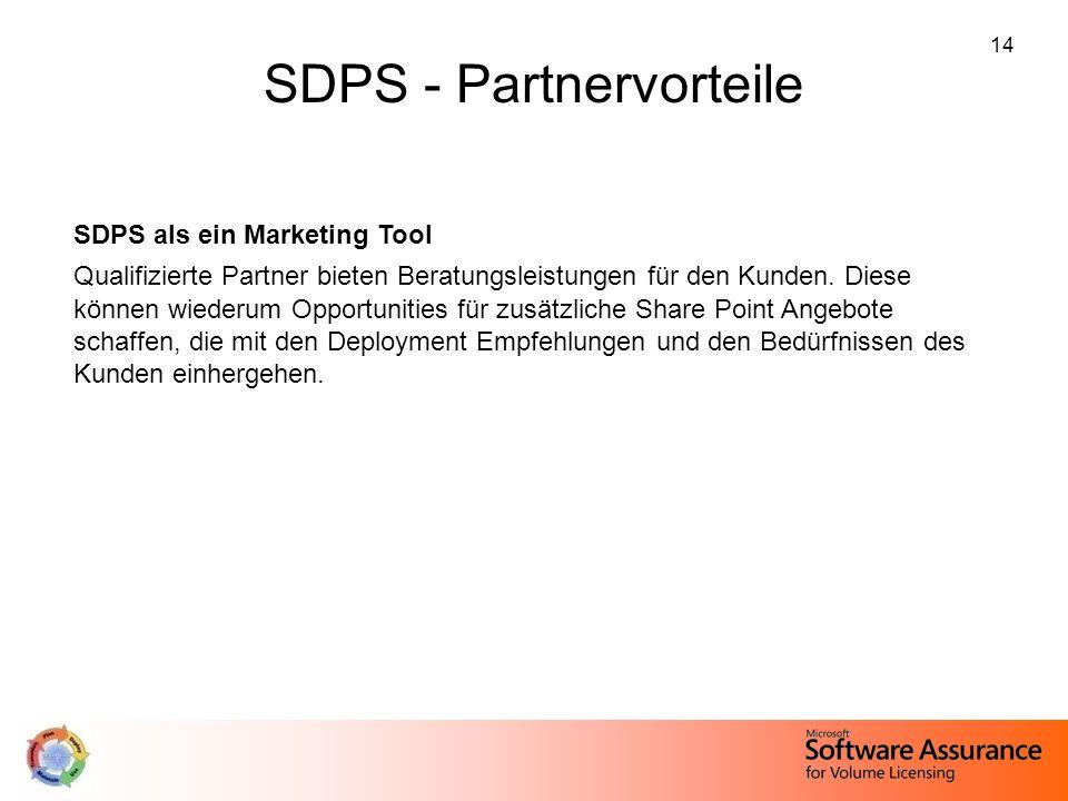 SDPS - Partnervorteile