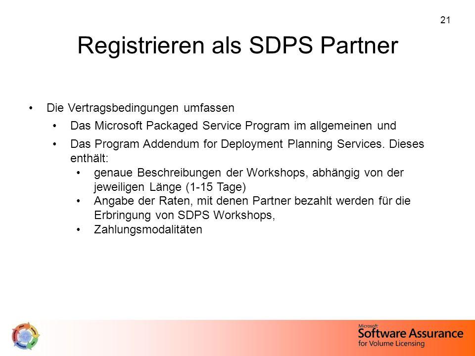 Registrieren als SDPS Partner