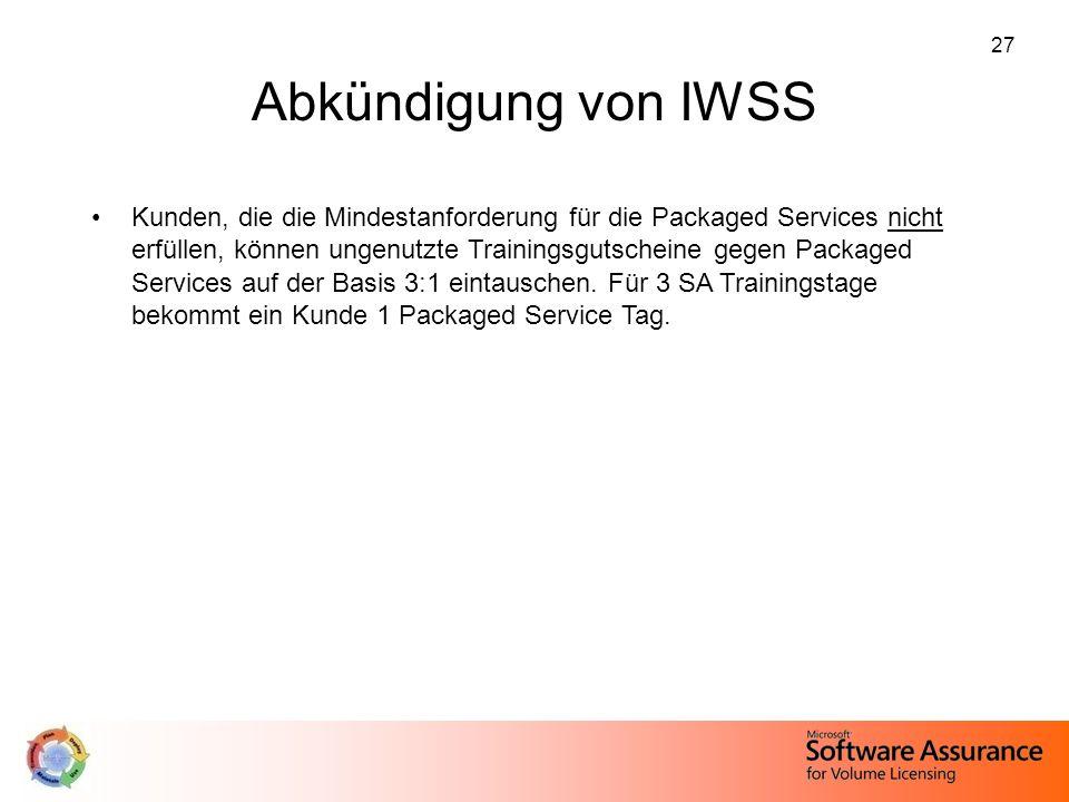 Abkündigung von IWSS