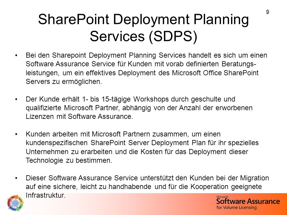 SharePoint Deployment Planning Services (SDPS)