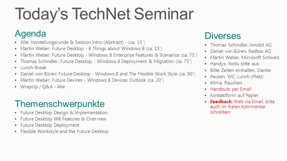 Today's TechNet Seminar