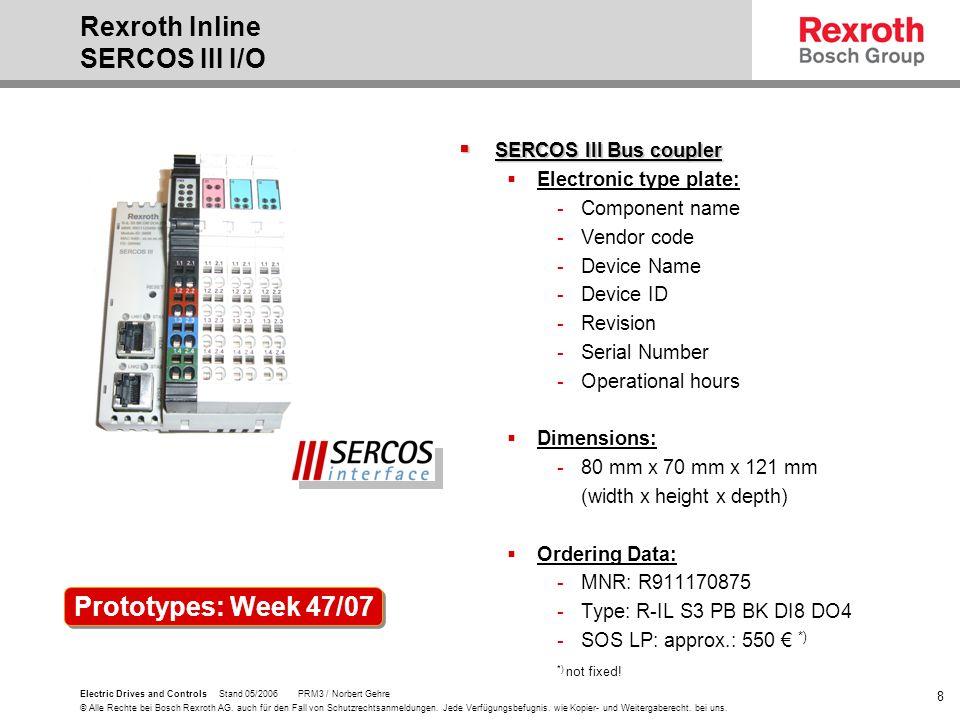 Rexroth Inline SERCOS III I/O