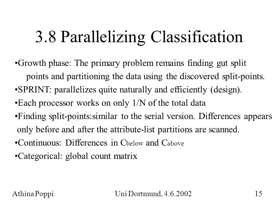3.8 Parallelizing Classification