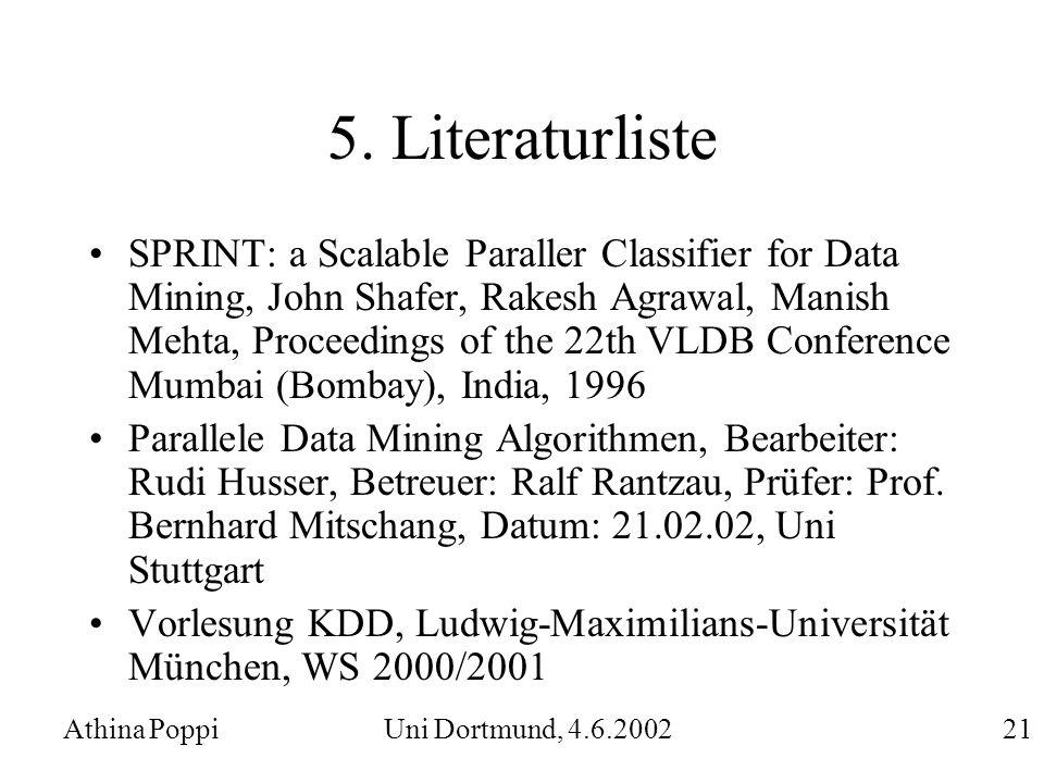 5. Literaturliste