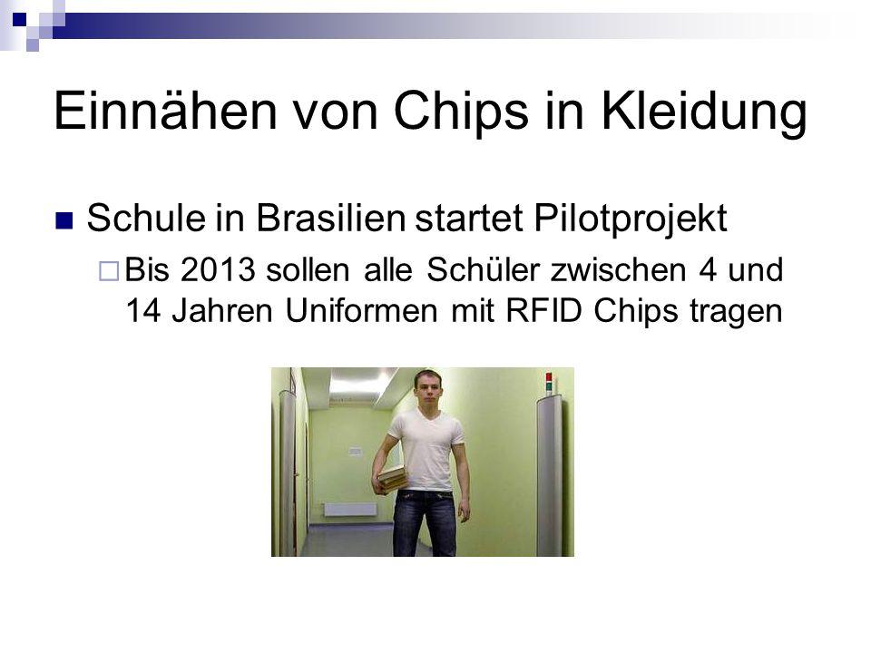 Einnähen von Chips in Kleidung
