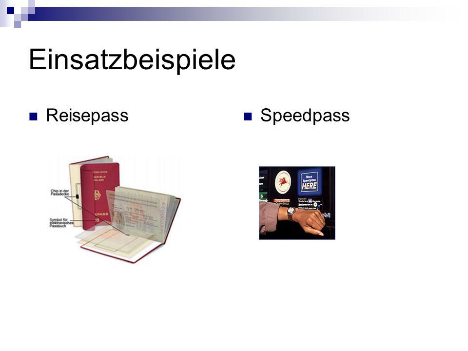 Einsatzbeispiele Reisepass Speedpass