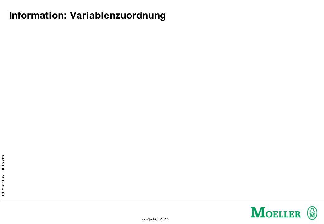 Information: Variablenzuordnung