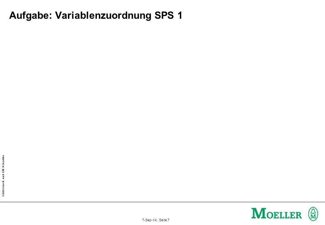 Aufgabe: Variablenzuordnung SPS 1