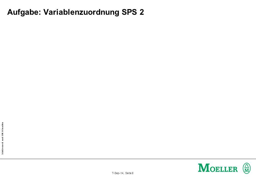 Aufgabe: Variablenzuordnung SPS 2
