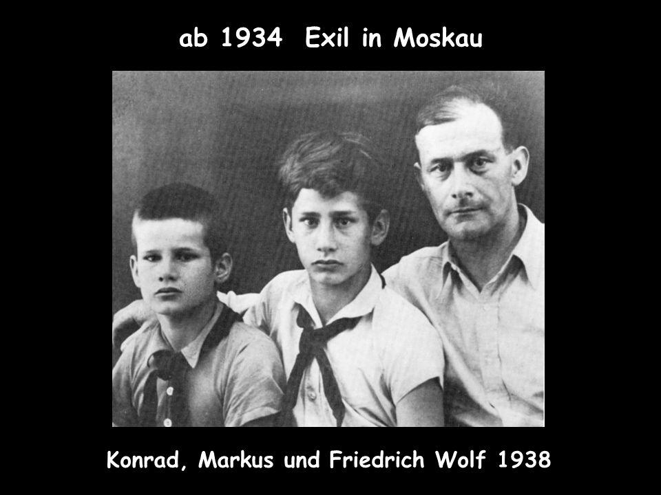 Konrad, Markus und Friedrich Wolf 1938