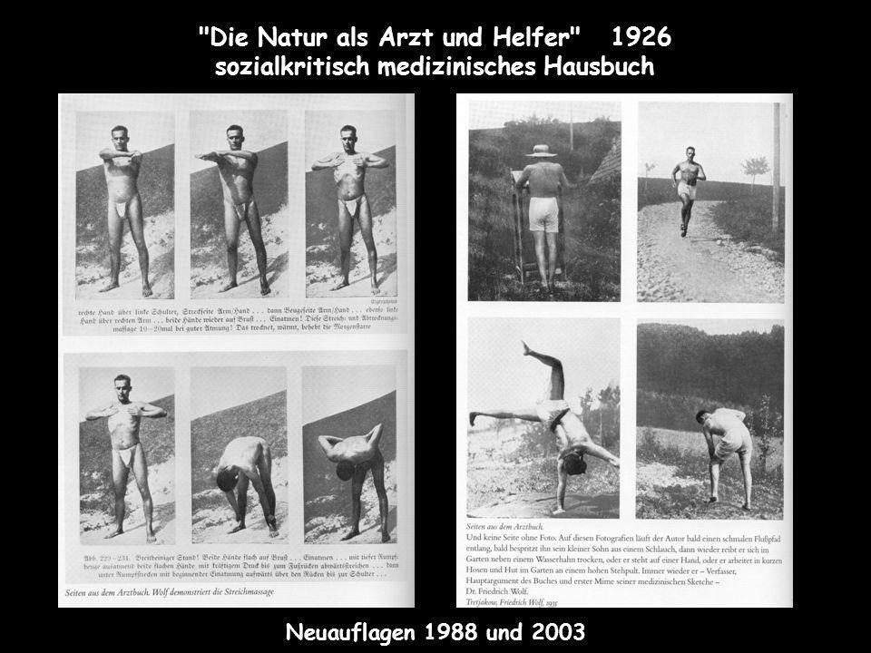 Die Natur als Arzt und Helfer 1926 sozialkritisch medizinisches Hausbuch