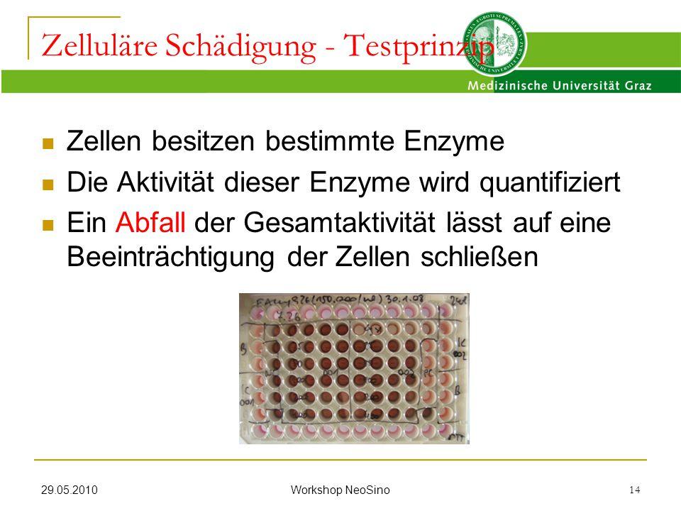 Zelluläre Schädigung - Testprinzip