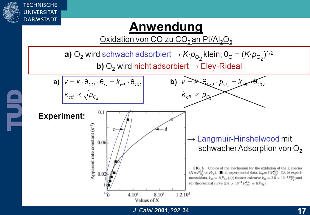 Anwendung Oxidation von CO zu CO2 an Pt/Al2O3