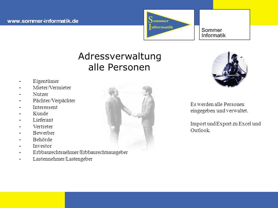 Adressverwaltung alle Personen