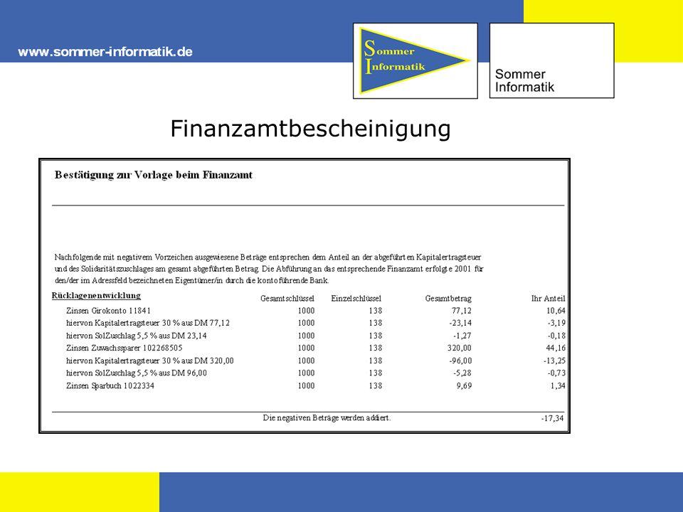 Finanzamtbescheinigung