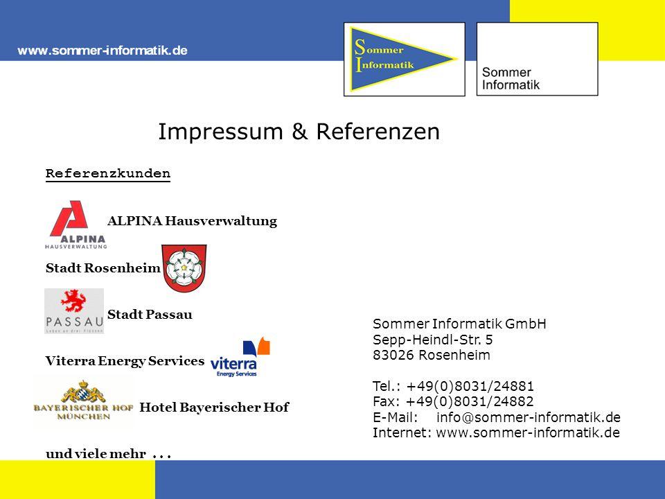 Impressum & Referenzen