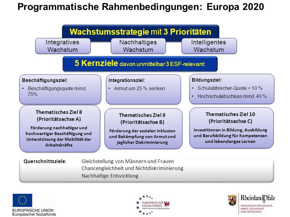Programmatische Rahmenbedingungen: Europa 2020