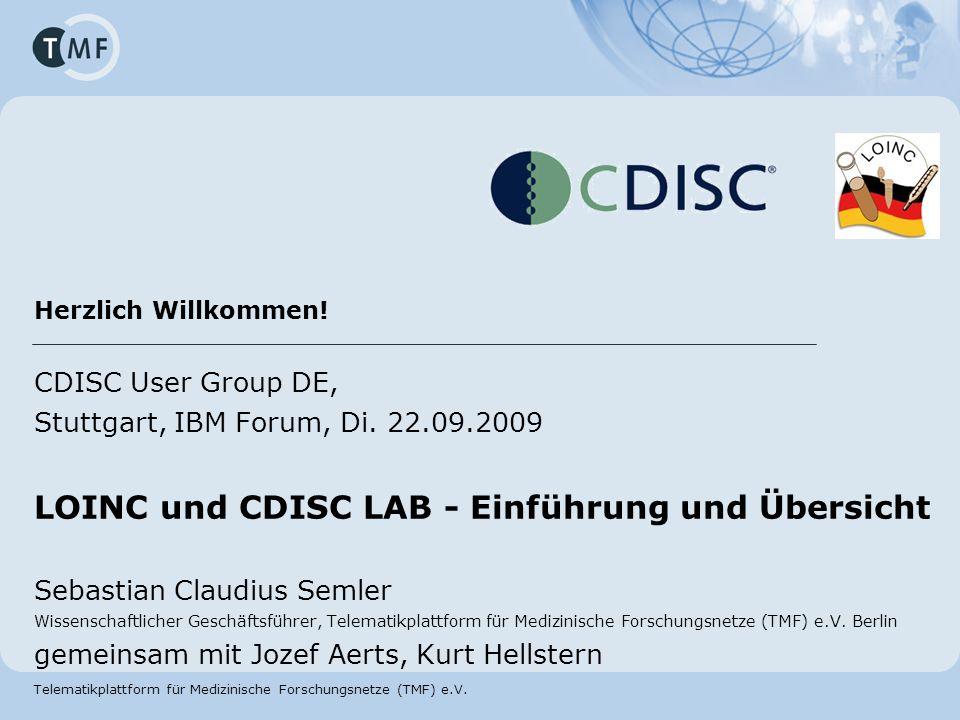 LOINC und CDISC LAB - Einführung und Übersicht