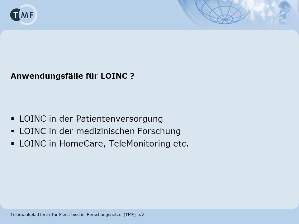 Anwendungsfälle für LOINC