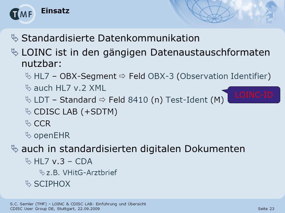 Standardisierte Datenkommunikation
