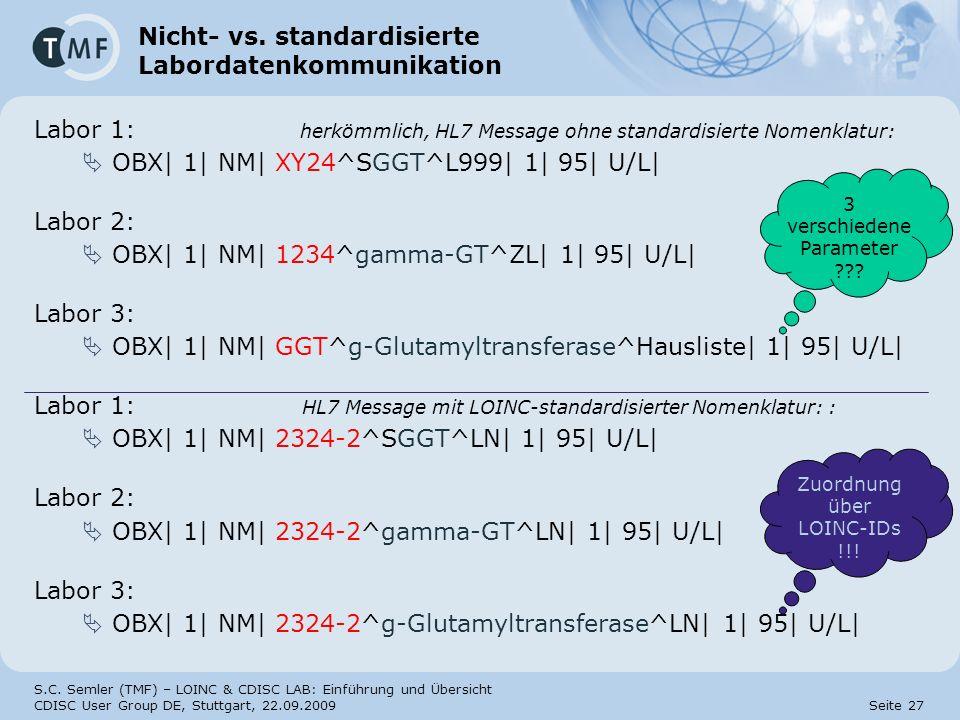 Nicht- vs. standardisierte Labordatenkommunikation