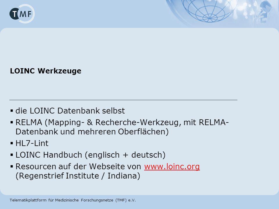 die LOINC Datenbank selbst